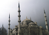 The Blue Mosque in Istanbul, Turkey. Deember 1998.