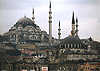 Mosques in Istanbul. December 1998.